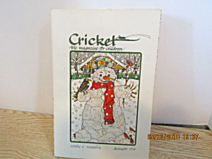 Vintage Childrens Magazine Cricket December 1974