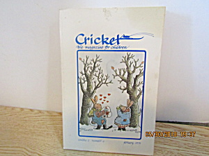 Vintage Childrens Magazine Cricket February 1975