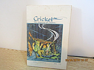 Vintage Childrens Magazine Cricket June 1975