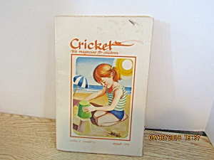 Vintage Childrens Magazine Cricket August 1975