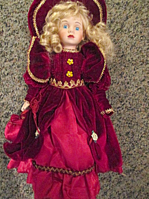 Collectible Memories Victorian Red Velvet Doll