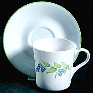Corelle My Garden Coffee Cup/saucer Set