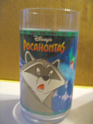 Disney Pocahontas Meeko And Flit Collector Glass