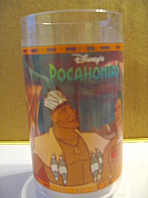 Disney Pocahontas,powhatan And Kocoum Collector Glass