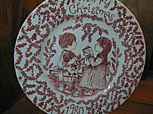 Merry Christmas 1980 Ironstone Plate