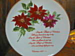 Christmas Floral Series Ii Decorator Christmas Plate