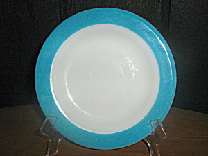 Vintage Pyrex Turquoise Bread And Butter Plate