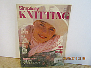 Vintage Magazine Simplicity Knitting Winter 1988
