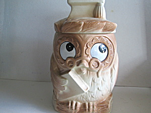 Vintage Wise Owl Cookie Jar