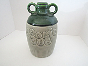 Vintage Mccoy Green Crock Cookie Jar