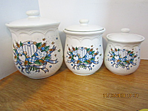 Tabletops Blueberry Hearts Canister Set