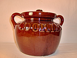 Vintage Large Usa Brown Bean Pot Cookie Jar