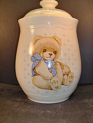Tienshan Stoneware Country Bear Canister Cookie Jar