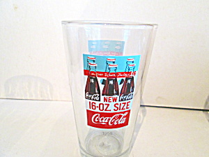 Vintage Coco-cola Glass Advertizing New 16 Ounce Coke
