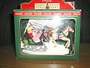 Coca Cola Town Square Collectables Sleigh Ride