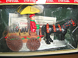Coca Cola Town Square Collectables Horse Drawn Wagon