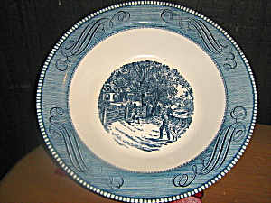 Currier And Ives Serving Bowl