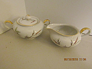 Vintage Victorianbavaria Wheat Creamer & Sugar Bowl Set