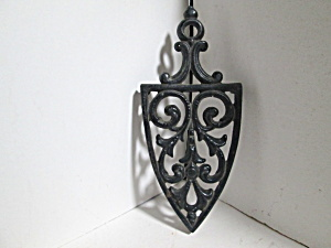 Vintage Cast Iron Wall Hanging Flower & Vines Trivet
