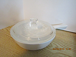Vintage CorningWare White Covered Browning Dish MW-83-B (Image1)