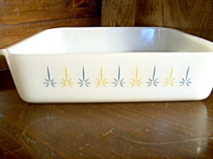 Vintage Fire King Candlewick Small Cake Pan
