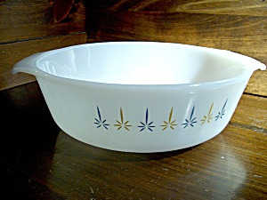 Vintage Fire King Candlewick Open Casserole Dish