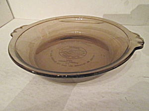 "Vintage Amber Pyrex Limited Edition 8"" Pie Plate"