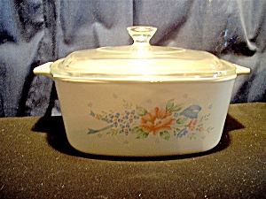 Vintage Corning Ware Symphony Covered Casserole