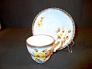 Cup And Saucer Set Yamaka Yellow Rose