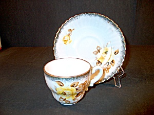 Yamaka Yellow Rose Demitasse Cup And Saucer Set