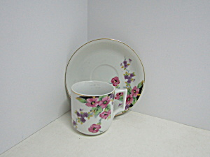 Vintage Occupied Japan Demitasse Cup And Saucer Set