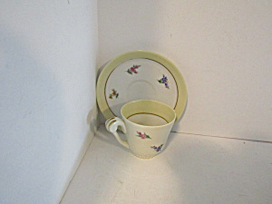 Vintage Limoges Ulim Demitasse Cup And Saucer Set