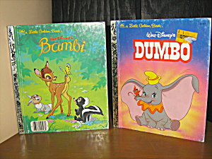 Golden Book Set Of 2 Dumbo & Bambi