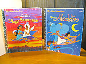 Golden Book Alddin & Alddin The Magic Carpet Ride