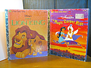 Golden Book Lion King & Alddin The Magic Carpet Ride