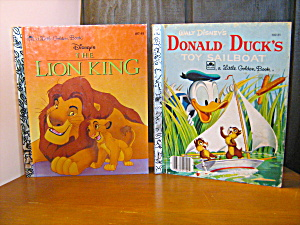 Golden Book Donold Duck's Toy Sailboat & Lion King