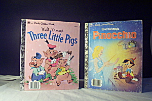 Little Golden Book Disney Three Little Pigs & Pinocchio
