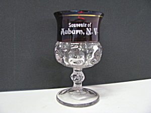 Kings Crown Ruby Thumbprint Souvenir Goblet