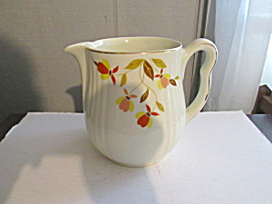 Vintage Hall Jewel Tea Autumn Leaf Utility Milk Jug