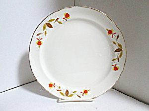 Vintage Hall Jewel Tea Autumn Leaf Breakfast Plate