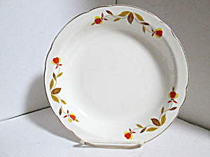 Vintage Hall Jewel Tea Autumn Leaf Rimmed Soup Bowl