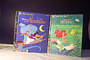 Little Golden Book Disney Aladdin & The Little Meraid