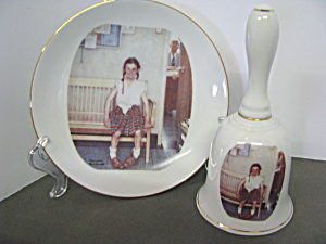 Norman Rockwell Classic Bell And Plate Shiner
