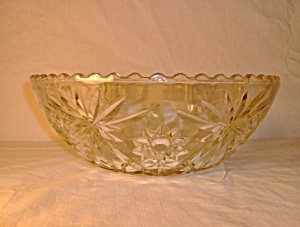 Anchor Hocking Crystal Pressed Cut Glass Bowl