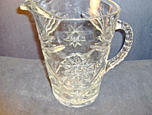 Anchor Hocking Crystal Pressed Cut Glass 64oz Pitcher