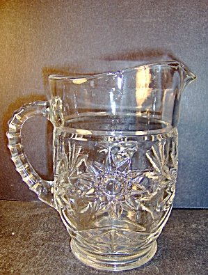 Anchor Hocking Crystal Pressed Cut Glass Milk Pitcher