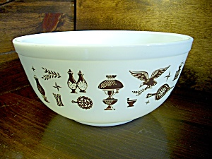 Vintage Corning Pyrex Early American Small Mixing Bowl