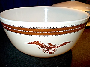 Vintage Corning Pyrex Federal Eagle Serving/mixing Bowl