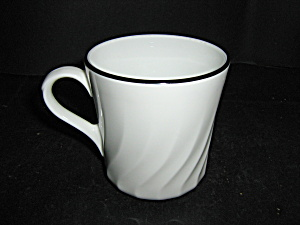 Corelle Enhancements Coffee Cup With Black Rim