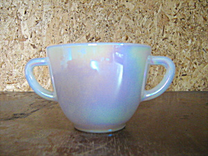 Vintage Federal Glass Moonglow Open Sugar Bowl